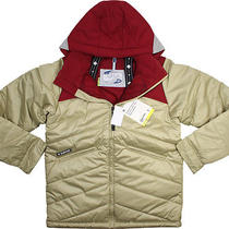 Burton Boys Puffaluffagus Jacket Biking Red M Nwt Photo
