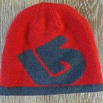 Burton Boys Reversible Red/gray Hat Size 5-8 Lknew Photo