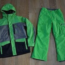Burton Boys Snowboard Ski Jacket and Pants Set Size l(14-16) Lknew Photo