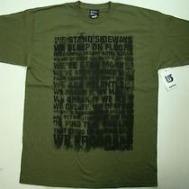 Burton Boys T-Shirt Green Black Smudge Words Logo Tee Snowboard Size Large Photo