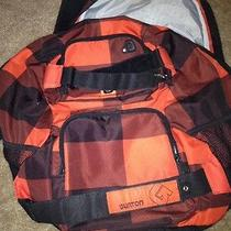 Burton Buffalo Plaid Backpack/laptop Gear Bag Photo