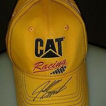 Burton Cat Racing Black Yellow Red  31 Baseball Cap Hat Autographed Photo