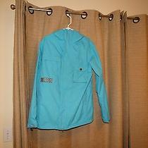 Burton Dryride Mens Small Aqua Hooded Ski Snowboard Jacket Photo
