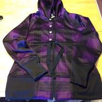 Burton Dryride Purple Black Plaid Ski Snowboard Jacket W/ Hood Softshell Nwot Photo