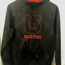 Burton Durable Goods Men's Full Zip Hoodie Black W/red Logo Sz Small S Jacket Photo