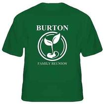 Burton Family Reunion Tree Last Name Surname T Shirt Large Photo