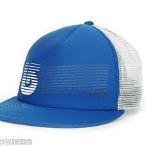Burton Feedback Blue/white Flat Brim Trucker Mesh Snapback Hat Cap Osfa Sz New Photo