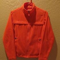 Burton Full Zip Fleece Type Jacket - Womens Small - Orange Photo
