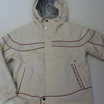 Burton Girls Element Snow Jacket Cream Medium Brand New Photo