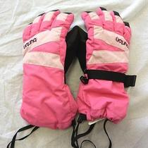 Burton Girls Pink and Black Ski Gloves Size Medium Photo