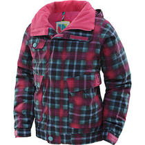 Burton Girls' Twist Bomber Jacket Medium Hot Streak Plaid Photo