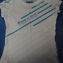 Burton - Graphic Baby Tee - Medium Withe and Blue Photo