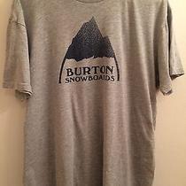 Burton Graphic Tshirt Slim Fit Large Gray Photo
