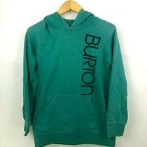 Burton Green Pullover Longsleeve Hoodie Size Medium Photo