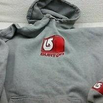 Burton Grey Hooded Sweatshirt Extra Large  Photo