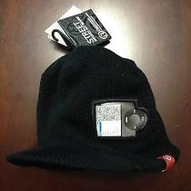 Burton I360 Black Red Street Infused Hat Beanie Headphones Speakers Ipod Iphone Photo