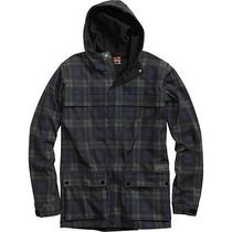 Burton Jasper Softshell Hooded Zip Jacket (L) Black Watch Plaid Photo