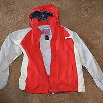 Burton Kids Backhill Ski / Snowboard Coat Jacket 12-14 Boys/girls Red White  Photo