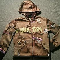 Burton..kids Hoodie. Size M. Camoflouge With Skulls Snakesand Other Designs.   Photo