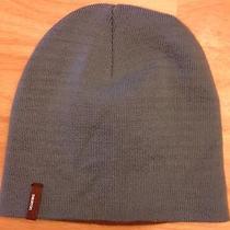 Burton Light Gray Blue & Brown Knit Beanie / Snowboarding Knit Hat  Photo