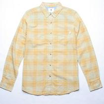 Burton Long Sleeve Plaid Shirt (M) Yellow Photo