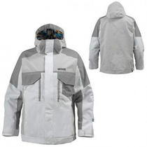 Burton Men's Twc Bit O Heaven Snowjacket White Small Shaunwhite  Reg400 Photo