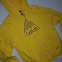 Burton Mens Full Zip Hoodie  Sweatshirt Jacket  Large L  Yellow With Name  Photo