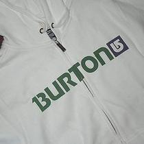Burton Mens Logo Hoodie  Sweatshirt Jacket  Size  Small White  With Name  Photo