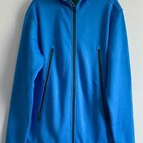 Burton Mens Sz L Full Zip Sweatshirt Hooded/ Fleece Lined Blue Photo