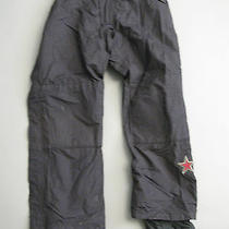 Burton Mens Universe Full Side Zip Black Drop Seat Ski Snowboard Pants Medium M Photo