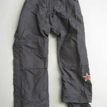Burton Mens Universe Full Side Zip Black Drop Seat Ski Snowboard Pants Medium M Photo