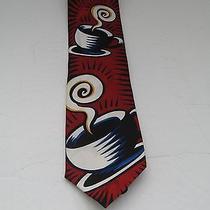 Burton Morris Red Coffee Cup Tie New Photo