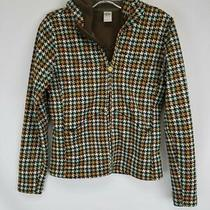 Burton Multicolor Houndstooth Full Zip Hoodie Sz S Photo