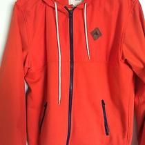 Burton Orange Water Resistant Hoodie - Large Photo