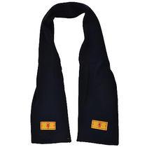 Burton Scotland Mens Fine Knit Plain Scarf - Navy - One Size Photo