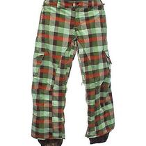 Burton Size M Womens Gridlock Plaid Stow Cargo Pant Snowboard Ski Snow Pants Photo