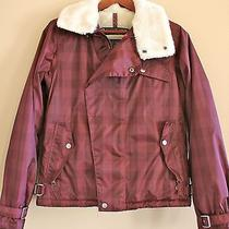 Burton Ski Jacket Beautiful Burgundy With Fur Collar.. Like New Photo