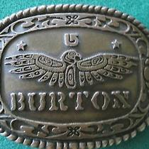 Burton Snow Boarding Eagle Belt Buckle  Photo