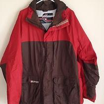Burton Snow Boarding Jacket Mens Extra Large Brown Red  With Snow Skirt Photo