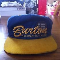 Burton Snowboard Starter Snapback Hat Rare Photo