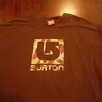 Burton Snowboarding Company T Shirt. Size Is L/ Smaller Xl Gnar Fresh Powder Photo