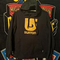 Burton Snowboarding Yellow/black Pullover Hoodie Size Small Photo
