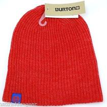 Burton Snowboards All Day Long Ribbed Logo Knit Winter Hat/beanie/toque - Orange Photo