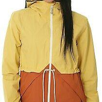 Burton Snowboards Narraway Rain Waterproof Jacket Anorak Yellow Xs 6 8 Womens Photo