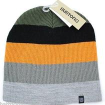 Burton Snowboards Serviced Striped Logo Knit Winter Hat/beanie/toque - Orange  Photo