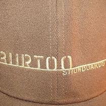 Burton Snowboards Vintage 90s Logo Solid Brown Ball Cap Hat Flexfit Small Medium Photo