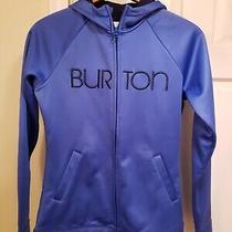 Burton Snowboards Womens a Hoodie Full Zip Long Sleeve Sweatshirt Blue Small Photo