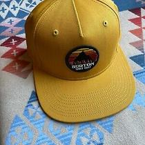 Burton Snowboards Yellow Comfort Snapback Hat Cap Est 1977 Usa Camping Photo