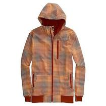 Burton Softshell Hooded Zip Jacket (L) Bitters Gingham Fade Photo
