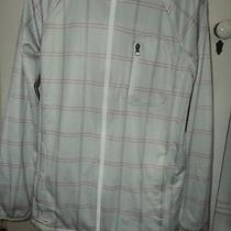 Burton Softshell Zip Jacket  Light Gray Plaid  Size L Photo
